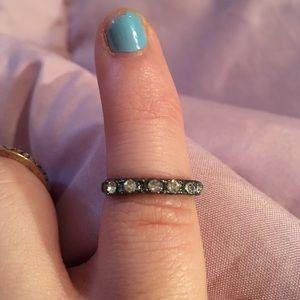 Dark gray stacking ring size 3 1/2